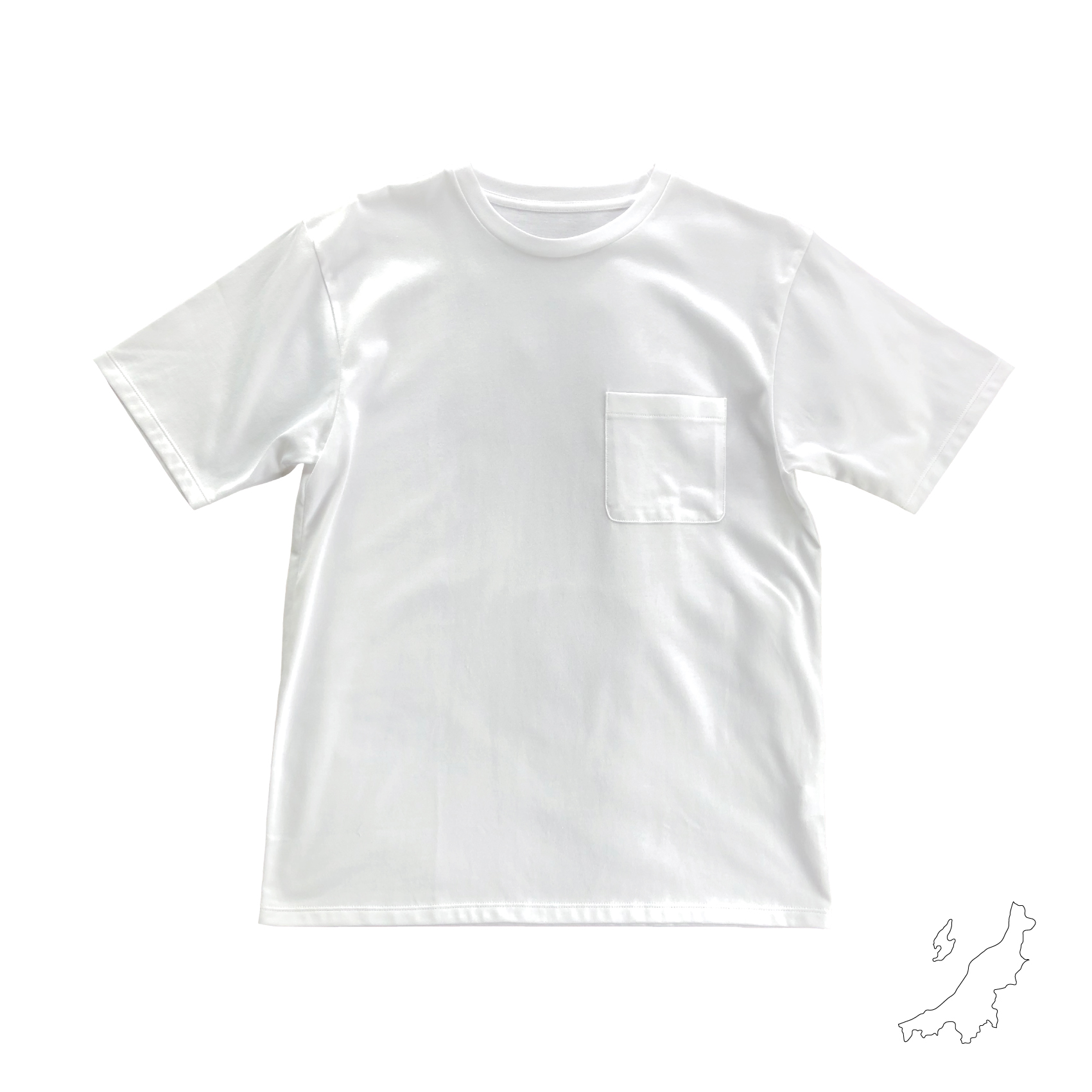"""着ごこちがいい 純国産ポケットTシャツ """"楽tee"""" <NIIGATA>"""