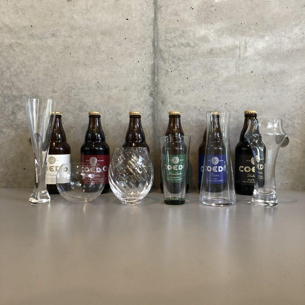 COEDO,ビール,グラス